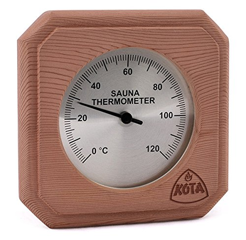 Kota Cedar Sauna Thermometer - box-type with cover Narvi Oy
