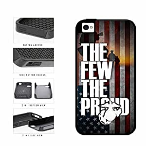 American Flag Proud To Be A Marine Dual Layer Phone Case Back Cover Apple iPhone 4 4s