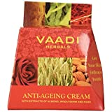 Anti Aging Cream - Anti Aging Cream for face - Delays Skin Premature Aging - All Natural - Anti Aging Cream for men and women - Pack of 1 X 30 Grams - Vaadi Herbals