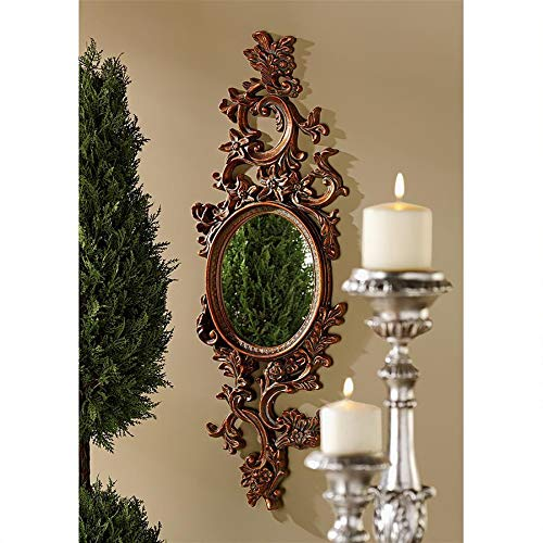 Design Toscano Delphine Accent Wall Mirror, Bronze