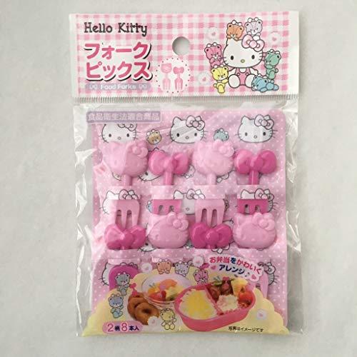 Sanrio Hello Kitty Food Fruit Cocktail Fork Picks 2 patterns 8 pics Bento Party (Fork)