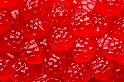 Gummi Red Raspberries - SweetGourmet Berry Gummi Red Raspberries | Bulk Gummy Candy | Dairy Free, Fat Free, Gluten Free, MSG Free | 1 pound