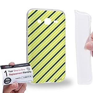 Case88 [Samsung Galaxy J2] Gel TPU Carcasa/Funda & Tarjeta de garantía - Art Design Diagonal St Patrick Art2092