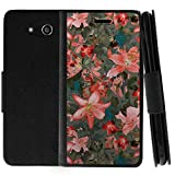 TurtleArmor | Compatible for ZTE Speed | N9130 | Flip Kickstand Wallet Case Leather Cover with Card Slots Holder Girl Designs - Captivating Pink Floral
