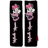 Juego de almohadillas Disney Minnie Mouse - Cubierta del cinturón de seguridad - Almohadilla del cinturón de seguridad - 2 Almohadillas