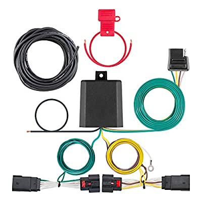 CURT 56407 Vehicle-Side Custom 4-Pin Trailer Wiring Harness for Select Jeep Wrangler JL: Automotive