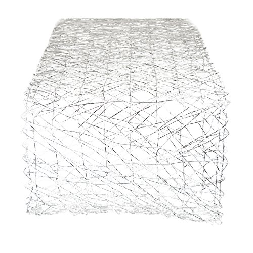 DII Woven Paper Decorative Metallic Table Runner for Holidays, Occasions, and Everyday Décor, 14x72