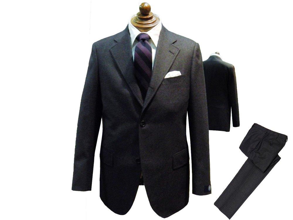 ジェイプレス メン(J.PRESS MEN) 【ORIGINALS】ペピンメリノ サキソニー スーツ B0786SKVD9 A5|グレー系 グレー系 A5