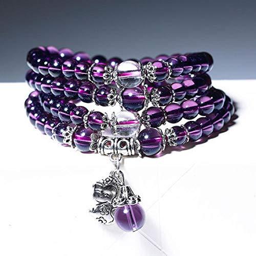 WENZHEN Amethyst Bracelet, 12 Zodiac Amethyst Women's Spongebob Bracelet Artificial Crystal Jewelry@Amethyst_Zodiac Dog
