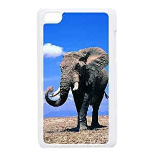 Ipod Touch 4 Elephant Phone Back Case Custom Art Print Design Hard Shell Protection DF078353