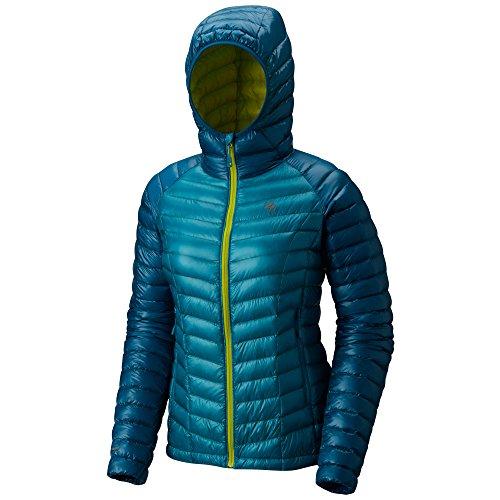 Green Ghost Part (Mountain Hardwear Women's Ghost Whisperer Hooded Down Jacket)