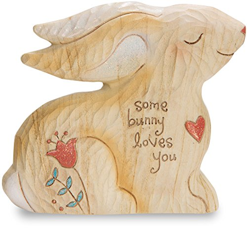 Pavilion Gift Company 78056 Heavenly Woods Bunny Figurine, 3-1/2