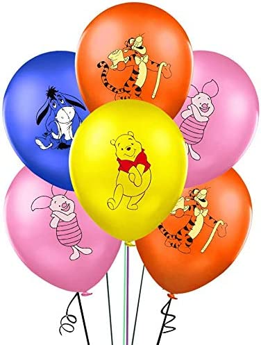 32PCS Winnie the Pooh and Friends Balloons Party Supplies 12 Latex Balloons for Kids Baby Shower Birthday Party Decorations