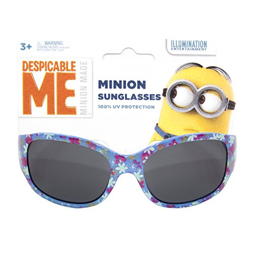 NBC Universal Despicable Me Kids Children Girls Sunglasses with 100% UV Protection Lavender and - Me Sunglasses