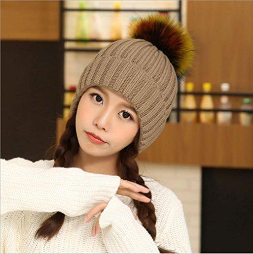 Oreille chapeau hiver chaude épaississement tricotage chapeau coupe-vent pour dames , 2