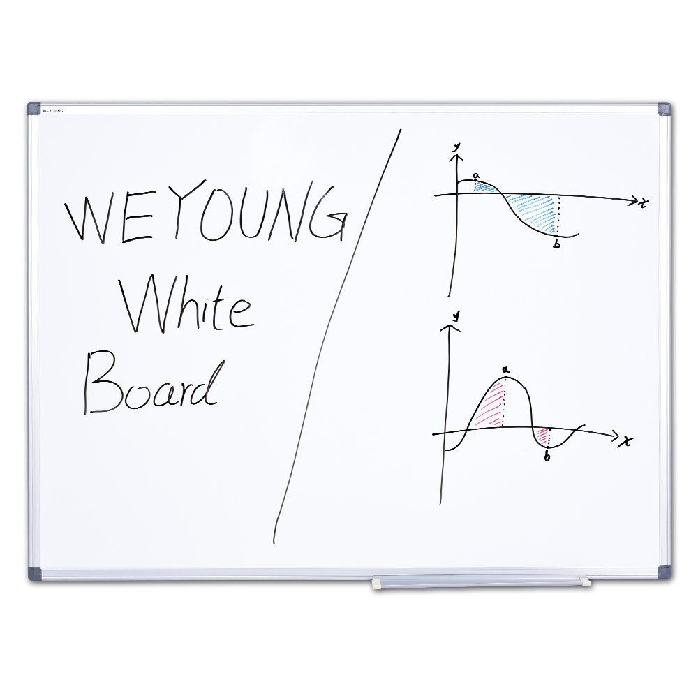WEYOUNG Dry Erase Board - 48x36 inches Magnetic White Board Large Dry Wipe Whiteboard On Wall Excellent for Office and Home