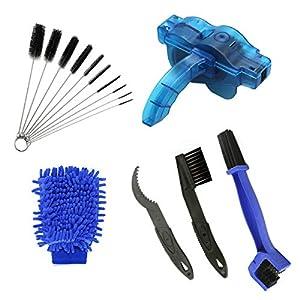 AHCSMRE Bike Chain Cleaning Brush Kit Bicycle MaintenanceWashing Tool Suitable for Mountain, Road, City, Hybrid,BMX Bike and Folding Bike