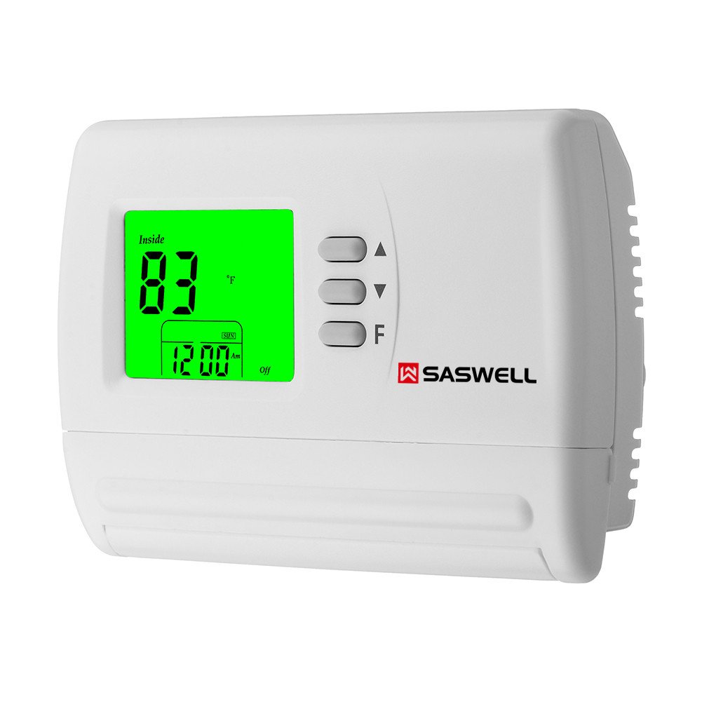 Single Stage 5-2 Programmable Thermostat,24 Volt or Millivolt System,1 Heat 1 Cool,Saswell SAS900STK-2 by Saswell (Image #2)