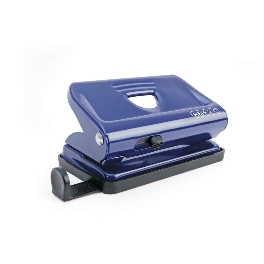 Fora fino a 12 fogli 80gsm Blu Rapesco Perforatore a 2 fori 810