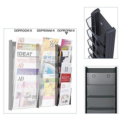 Alba DDPROPM N Pr/ésentoir Mural 5 Cases Format 1//3 A4 5 Compartiments Noir