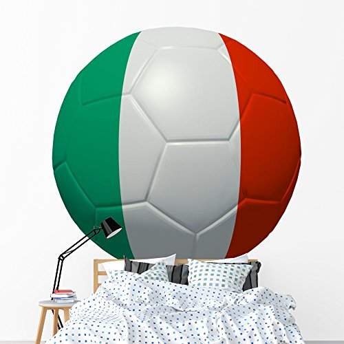 Wallmonkeys Italy Flag World Cup Wall Decal Peel and Stick Graphic (72 in W x 48 in H) WM153852 ()