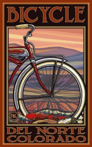 Northwest Art Mall Del Norte Colorado Old Half Bike OHB Wall Art by Paul A. Lanquist, 11-Inch by - Del Mall Norte