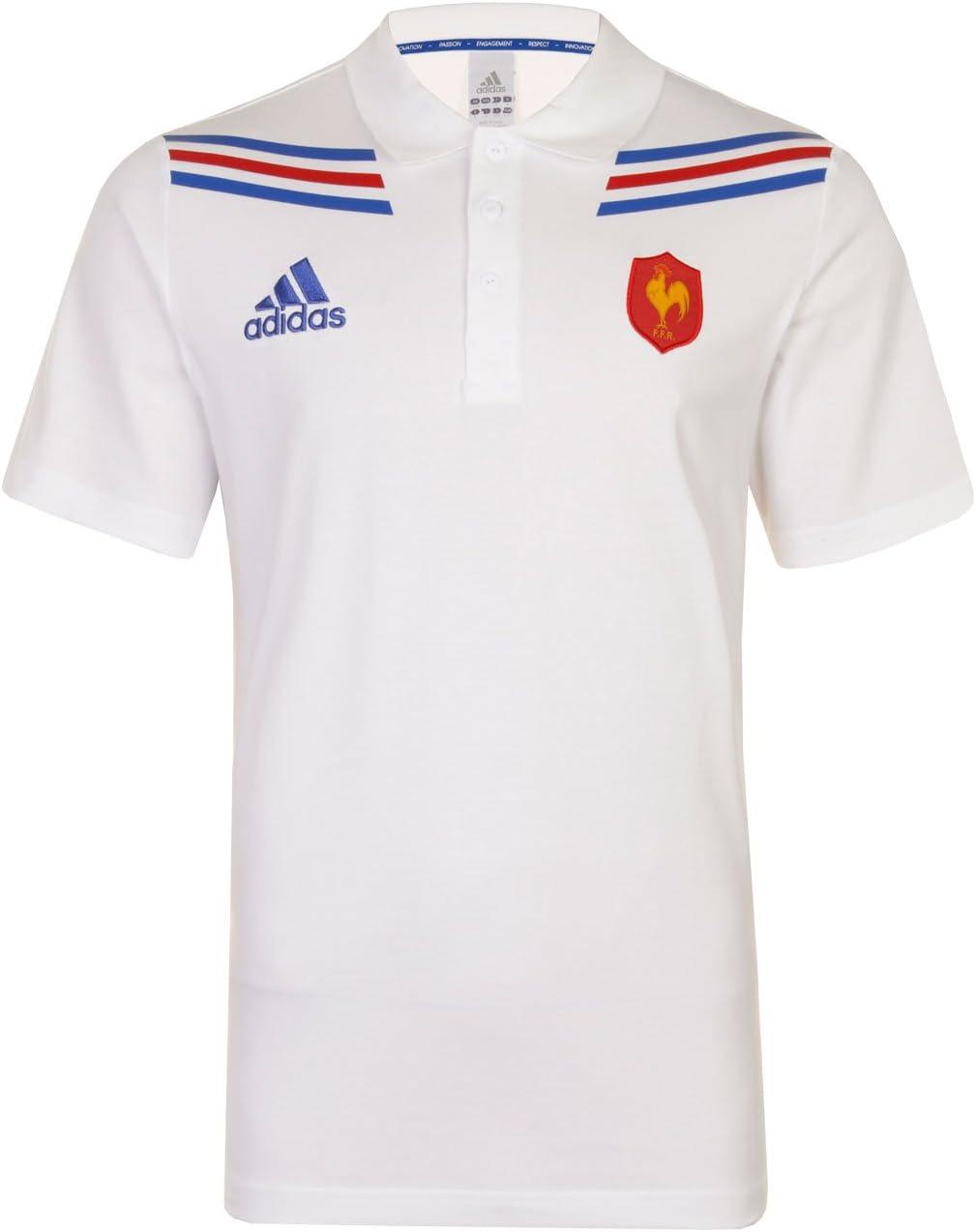adidas FFR Francia Rugby Polo Camiseta de Manga Corta Jersey ...
