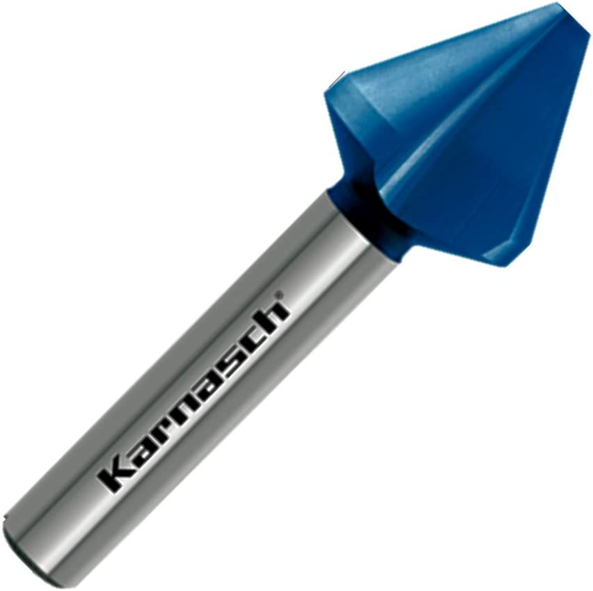Kegelsenker Entgrater f/ür Edelstahl Stahl Guss Senker 60/° HSS-XE+Blue-Tec 3-Fl/ächen-Schaft DIN 334 d=25,0mm
