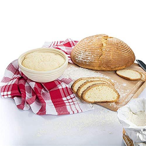Banneton Proofing Basket - Natural Rattan Fermentation Wicker Basket bowl Country Baguette French Bread Mass Proofing Baskets Dough Banneton Baskets - by SHA - 1 PCs by SHA (Image #2)