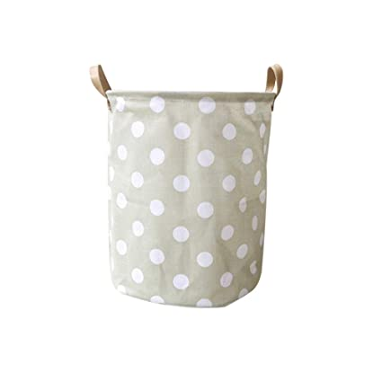 Bucket Laundry Basket Box Foldable Household Organizer Star Pattern Saving Space