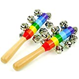 GOTD Baby Toy Cartoon Animal Wooden Handbell Musical Developmental Instrument