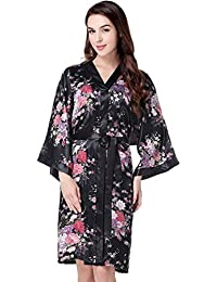 c196c2503e Kimono Robe Long Floral Bridesmaid Wedding Bachelorette Party Robe 53