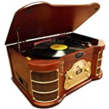 Pyle-Home Ptcds2ui Am/Fm Radio/Cd/Cassette/Usb Classic Turntable with Ipod Dock