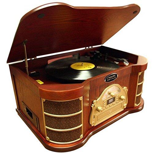 Pyle Home PTCDS2UI AM/FM Radio/CD/Cassette/USB Classic Turnt