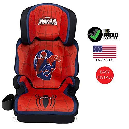 51ShFFT9yDL - KidsEmbrace High-Back Booster Car Seat, Marvel Spider-Man