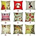 Throw Pillow Cover, DaySeventh Cotton Linen Square Home Decorative Throw Pillow Case Sofa Waist Cushion Cover 18x18 Inch 45x45 cm