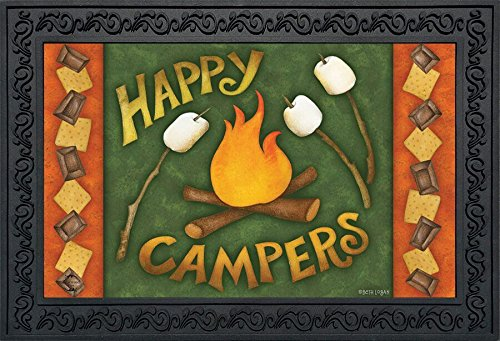 Briarwood Lane Happy Campfire Fall Doormat Camping Autumn Indoor Outdoor 18