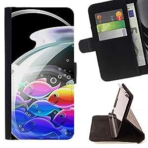 BullDog Case - FOR/Samsung Galaxy A3 / - / Japanese Anime Koi Fish /- Monedero de cuero de la PU Llevar cubierta de la caja con el ID Credit Card Slots Flip funda de cuer