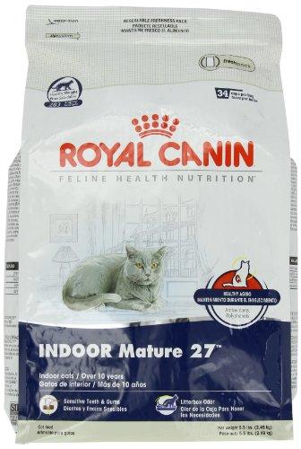 Royal Canin Dry Cat Food, Indoor Mature 27 Formula, 5.5-Pound Bag, My Pet Supplies