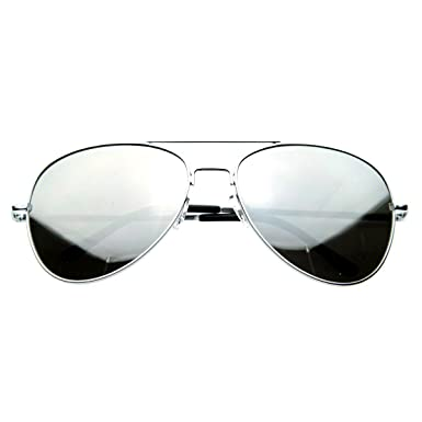aviator mirror sunglasses  Amazon.com: SWG EYEWEAR庐 Aviator One Way Mirror Sunglasses w/ 400 ...
