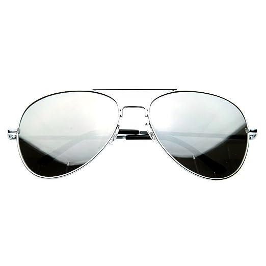 Amazon.com  SWG EYEWEAR Aviator One Way Mirror Sunglasses w  400 UV ... 665ff18099f