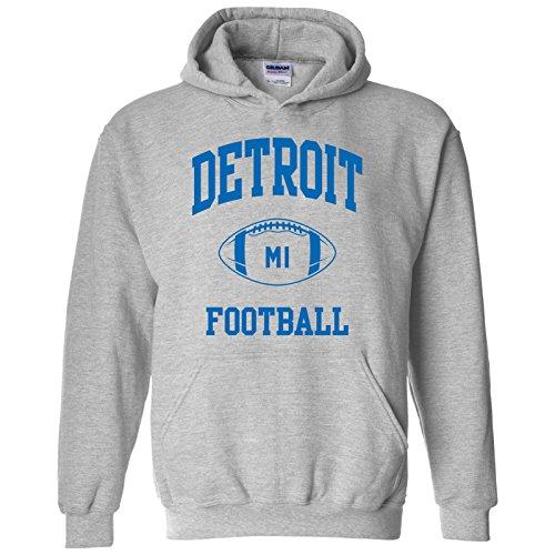 Detroit Classic Football Arch American Football Team Sports Hoodie - Small - Sport -