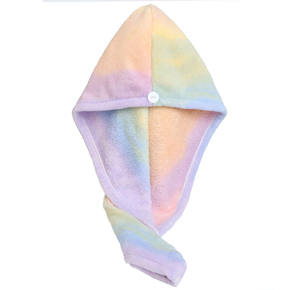 Microfiber Hair Drying Wrap Towel for Women Turban Fast Dry Multicolored : Beauty