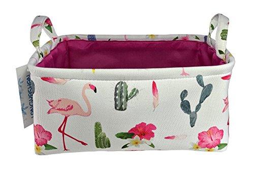 Rectangular Plush (Rectangular Storage Basket Collapse Canvas Fabric Cartoon Storage Cube Bin With Handles for Organizing Home/Kitchen/Kids Toy/Office/ Closet/Shelf Baskets (Flamingo))