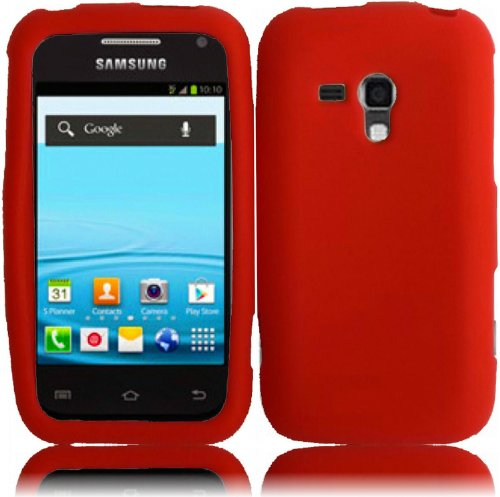 Cheap Cases For Samsung Galaxy Rush M830 Silicone Jelly Skin Cover Case Red