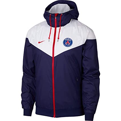 great prices various design great look Nike 2018-2019 PSG Authentic Windrunner Jacket (Navy ...