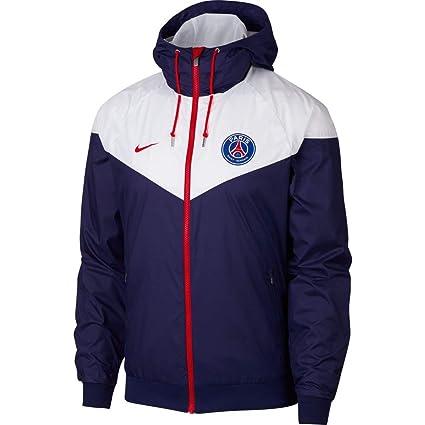 sale retailer 5e405 ed3af NIKE 2018-2019 PSG Authentic Windrunner Jacket (Navy) Size XL