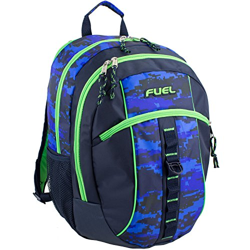 D&A 18'' Blue Green Multi Camouflage Pattern Backpack, Beautiful Camo Army Love by D&A (Image #1)