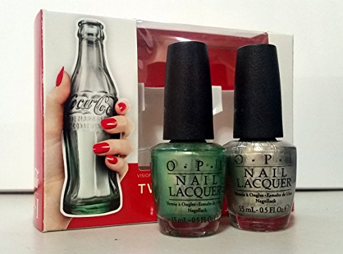 Coca Cola Two To Celebrate Duo Pack Nail Polish set Full Sizes 0.5 fl OZ - Visions of Georgia Green and Centennial - Paint Georgia
