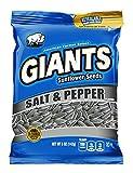 Salt & Pepper Flavored GIANTS Sunflower Seeds(5 oz bag,12 counts)